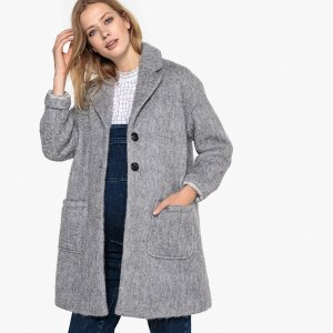 Пальто LaRedoute. Цвет: серый