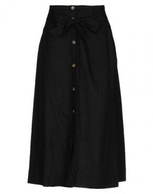 Длинная юбка B.YOUNG. Цвет: черный