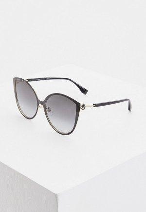 Очки солнцезащитные Fendi FF 0395/F/S 2M2. Цвет: черный