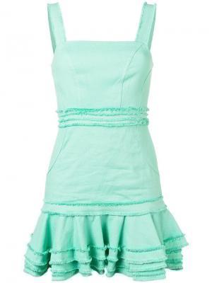 Платье с оборками на подоле Alexis