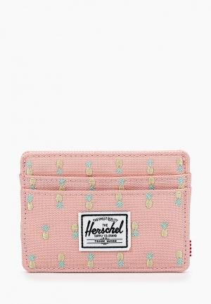 Кредитница Herschel Supply Co CHARLIE RFID. Цвет: розовый