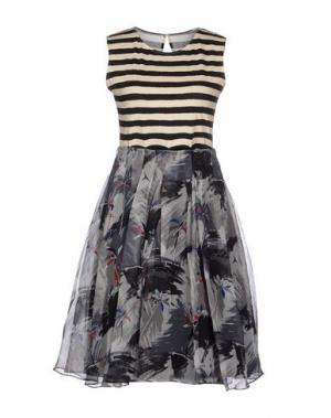 Платье до колена EGGS. Цвет: свинцово-серый