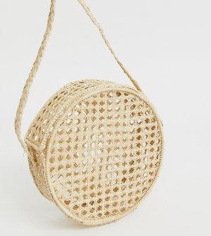 Круглая сумка через плечо из рафии KAANAS-Бежевый Kaanas