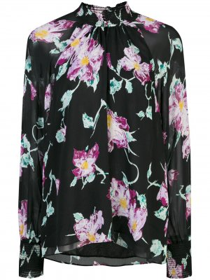 Блузка с цветочным принтом A.L.C.. Цвет: черный