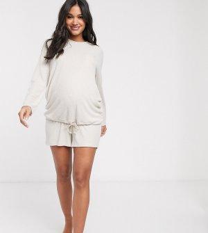 Мягкие шорты для дома от комплекта ASOS DESIGN Maternity-Бежевый Maternity