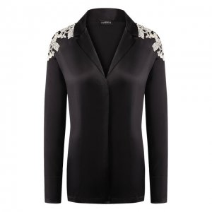Шелковая рубашка La Perla. Цвет: чёрно-белый