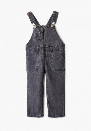 Комбинезон джинсовый Sela. Цвет: серый