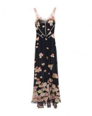 Длинное платье CHRISTIAN LACROIX. Цвет: темно-синий