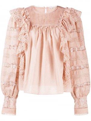 Блузка с английской вышивкой Ulla Johnson. Цвет: розовый