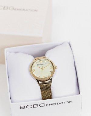 Часы с золотистым ремешком и циферблатом BCBG Max Azria-Золотистый MaxAzria