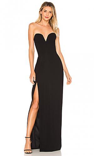 Вечернее платье cherri Amanda Uprichard. Цвет: черный