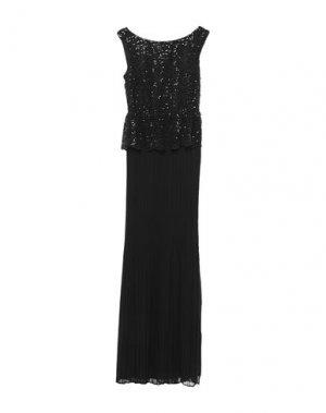 Длинное платье MIGUEL PALACIO for HOSS INTROPIA. Цвет: черный