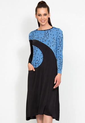 Платье D.VA MP002XW1GLOJ. Цвет: голубой