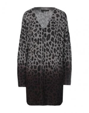 Короткое платье 360CASHMERE. Цвет: серый