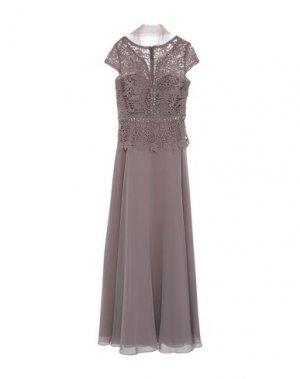 Длинное платье MIKAEL. Цвет: светло-коричневый