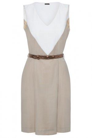 Летнее платье Apart. Цвет: бежевый, белый