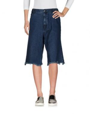 Джинсовые брюки-капри CHEAP MONDAY. Цвет: синий