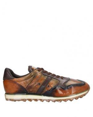 Низкие кеды и кроссовки ALBERTO FASCIANI. Цвет: коричневый