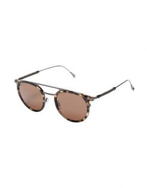 Солнечные очки TOD'S. Цвет: темно-коричневый