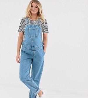 Синий выбеленный джинсовый комбинезон ASOS DESIGN Maternity