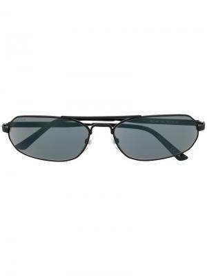 Солнцезащитные очки в тонкой оправе Balenciaga Eyewear. Цвет: черный