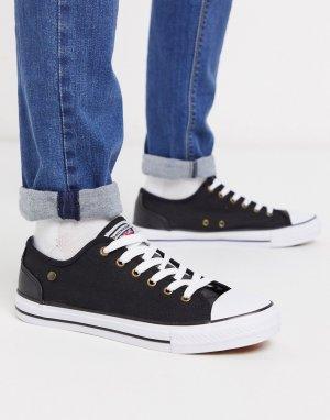 Черные кеды на шнуровке -Черный Dunlop