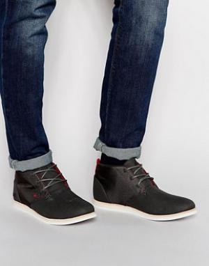 Холщовые ботинки чукка Dalston Boxfresh. Цвет: серый