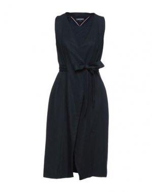 Платье миди TOMMY HILFIGER. Цвет: темно-синий