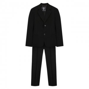 Костюм из пиджака и брюк Dal Lago. Цвет: чёрный