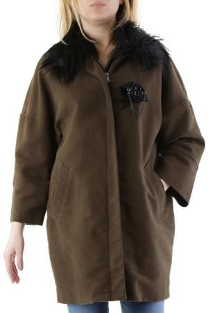 Пальто 525. Цвет: dark green