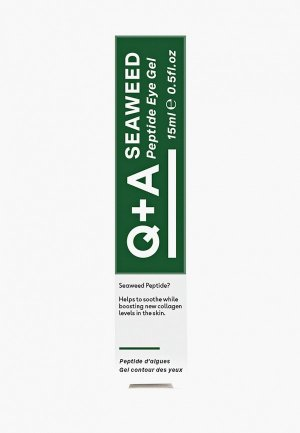 Гель для кожи вокруг глаз Q+A SEAWEED Peptide 15 мл. Цвет: прозрачный