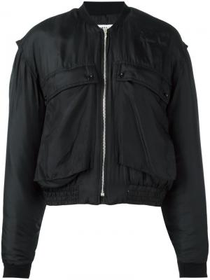 Куртка-бомбер Katharine E Hamnett at YMC. Цвет: чёрный