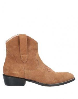 Полусапоги и высокие ботинки ÂME. Цвет: желто-коричневый