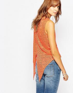 Майка с открытой спиной Pepe Jeans. Цвет: оранжевый