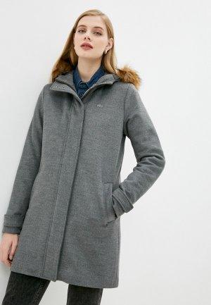 Пальто Lacoste. Цвет: серый