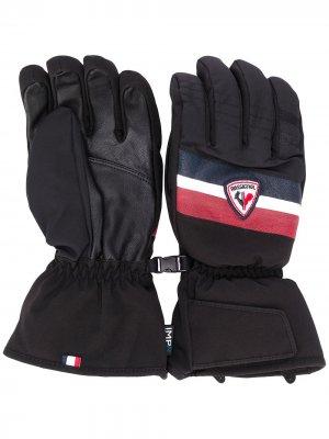 Перчатки с контрастным логотипом Rossignol. Цвет: черный