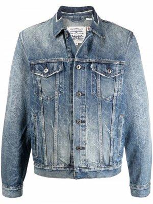 Levis: Made & Crafted джинсовая куртка с эффектом потертости Levi's:. Цвет: синий