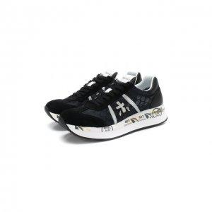 Комбинированные кроссовки Conny Premiata. Цвет: чёрный
