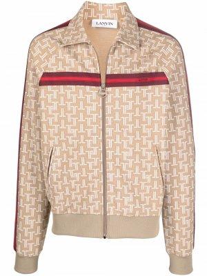 Куртка с монограммой LANVIN. Цвет: нейтральные цвета