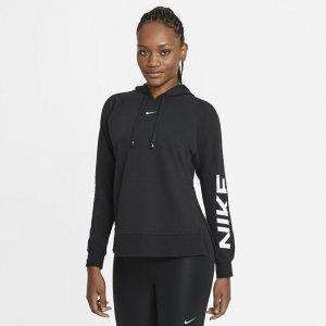 Женская худи для тренинга с графикой Dri-FIT Get Fit - Черный Nike