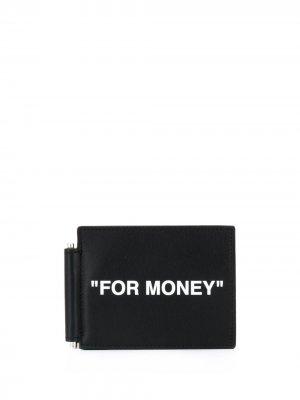 Бумажник с надписью Off-White. Цвет: черный