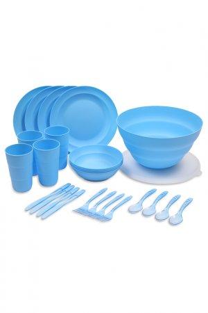 Набор для пикника VIRGO, 26 предметов DOSH I HOME. Цвет: голубой