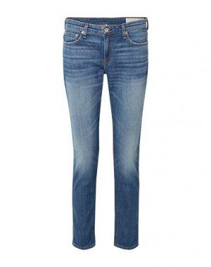 Джинсовые брюки RAG & BONE. Цвет: синий