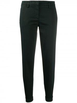 Укороченные брюки чинос средней посадки Aspesi. Цвет: зеленый