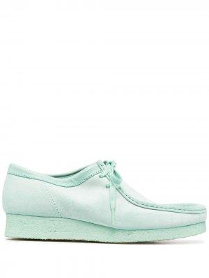 Топсайдеры с квадратным носком Clarks Originals. Цвет: зеленый