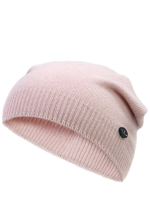 Вязаная шапка из шерсти CANADIENS. Цвет: бежевый