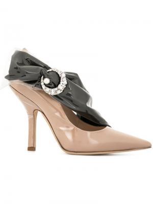 Туфли-лодочки с отделкой кристаллами Midnight 00. Цвет: коричневый