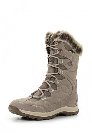 Ботинки Jack Wolfskin GLACIER BAY TEXAPORE HIGH W. Цвет: бежевый