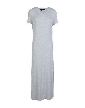 Короткое платье 360SWEATER. Цвет: светло-серый