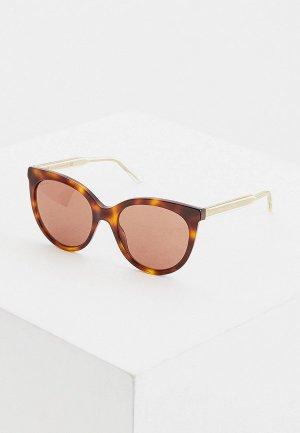 Очки солнцезащитные Gucci GG0565S 002. Цвет: коричневый